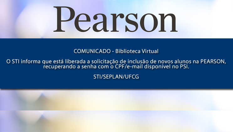 Comunicado do STI sobre o acesso a Pearson